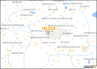 Toluca Mexico map nonanet