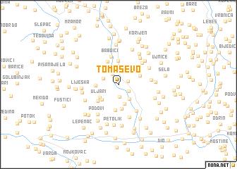 map of Tomaševo