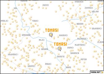 map of Tomaši