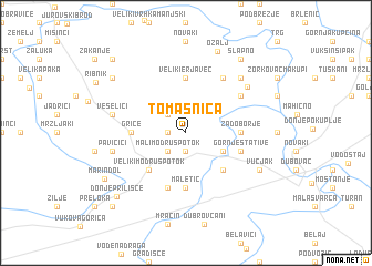 map of Tomašnica