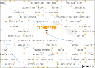 map of Tomaszew