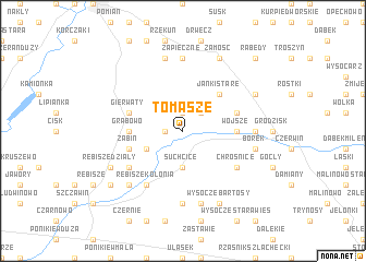 map of Tomasze