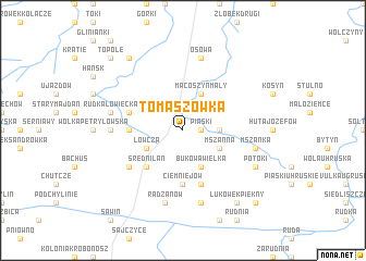map of Tomaszówka
