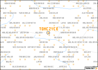 map of Tomczyce