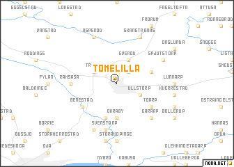 map of Tomelilla