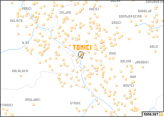 map of Tomići