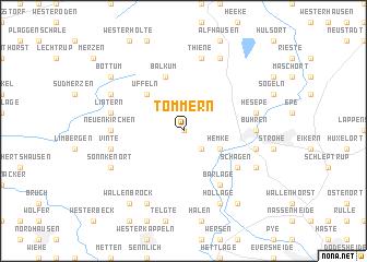 map of Tömmern