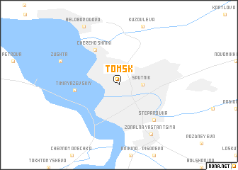 map of Tomsk