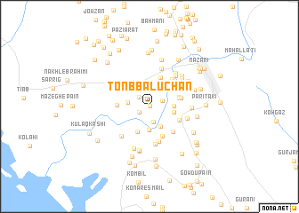 map of Tonb Balūchān