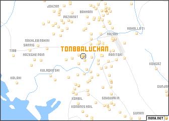 map of Tonb Balūchān