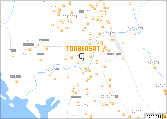 map of Tonb Basāt