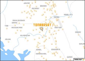 map of Tonb Basāt