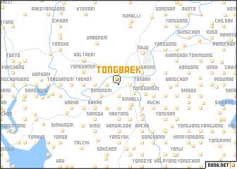 map of Tongbaek
