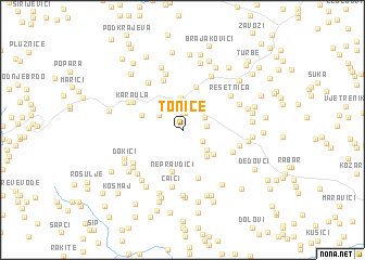 map of Tonice