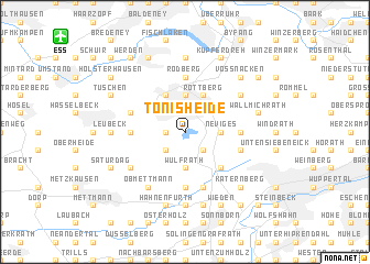 map of Tönisheide