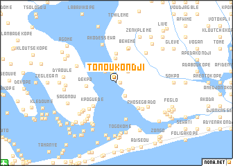 map of Tonou Kondji