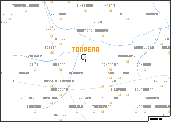 map of Tonpéna