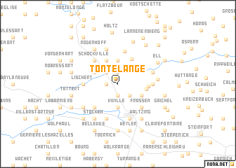 map of Tontelange