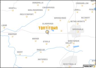 Tontitown Arkansas Map.Tontitown United States Usa Map Nona Net