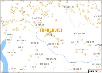 map of Topalovići
