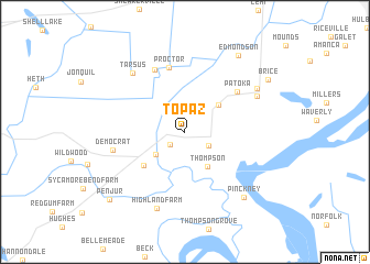 map of Topaz