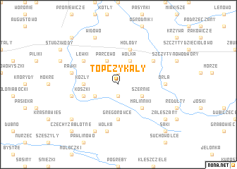 map of Topczykały