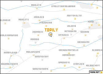map of Topily