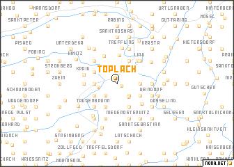 map of Töplach