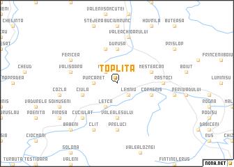 map of Topliţa