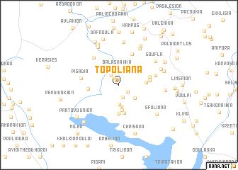 map of Topóliana