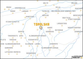 map of Topol'ska