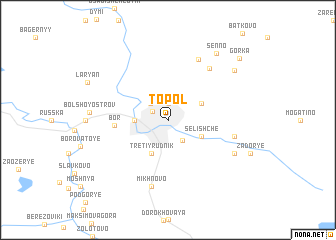 map of Topol\