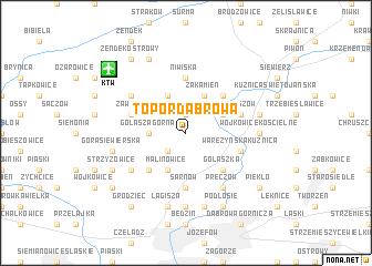 map of Topor-Dąbrowa