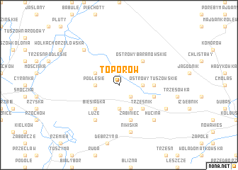 map of Toporów