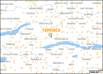 map of Töpriach
