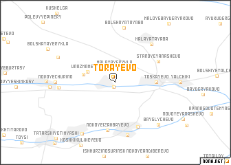 map of Torayevo