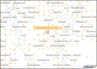 map of Torkaman Kheyl