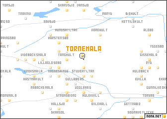 map of Törnemåla