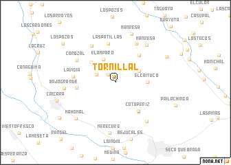 map of Tornillal