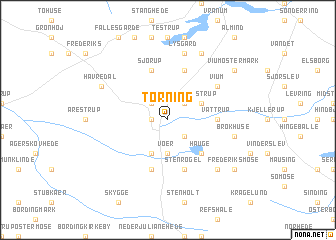 map of Torning