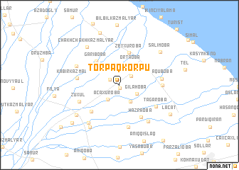 map of Torpaqkörpü