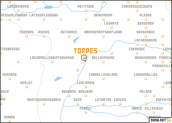 map of Torpes
