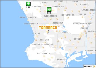 Torrance United States USA map nona