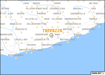 map of Torrazza