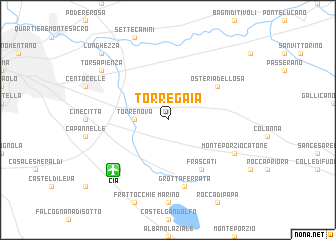 map of Torre Gaia