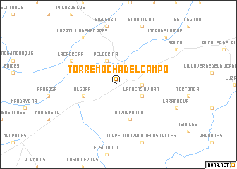map of Torremocha del Campo