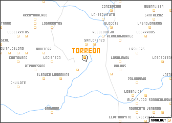 Torreón (Mexico) map - nona.net