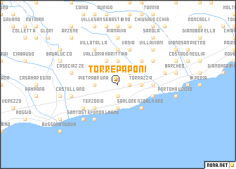 map of Torre Paponi