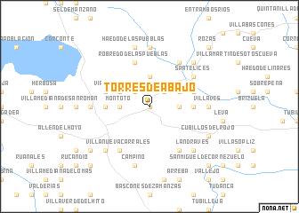 map of Torres de Abajo