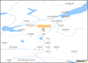 map of Torshus